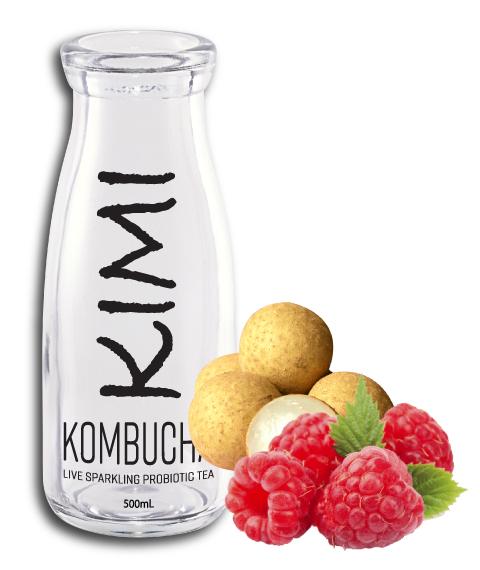 kimikombucha raspberry longan