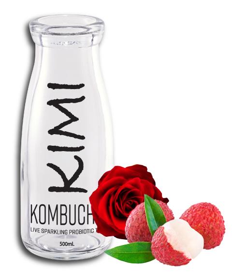 KimiKombucha Lychee Rose