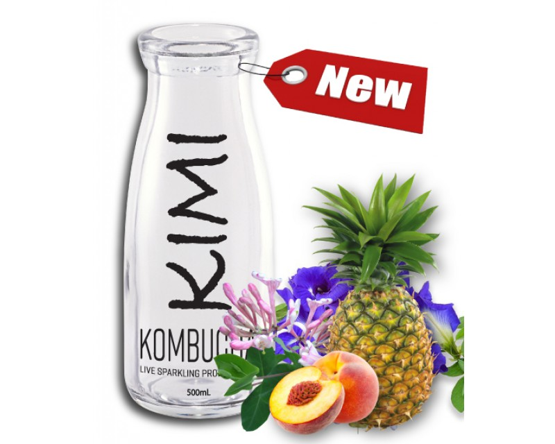 Kimi PREMIUM Honeysuckle-Pea Pineapple-Peach (Caffeine-Free) 1,000ml